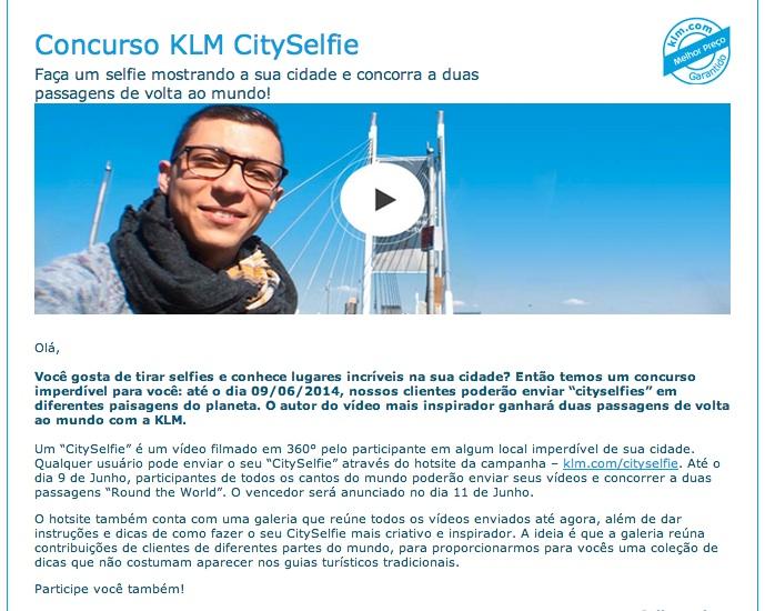 Concurso KLM CitySelfie