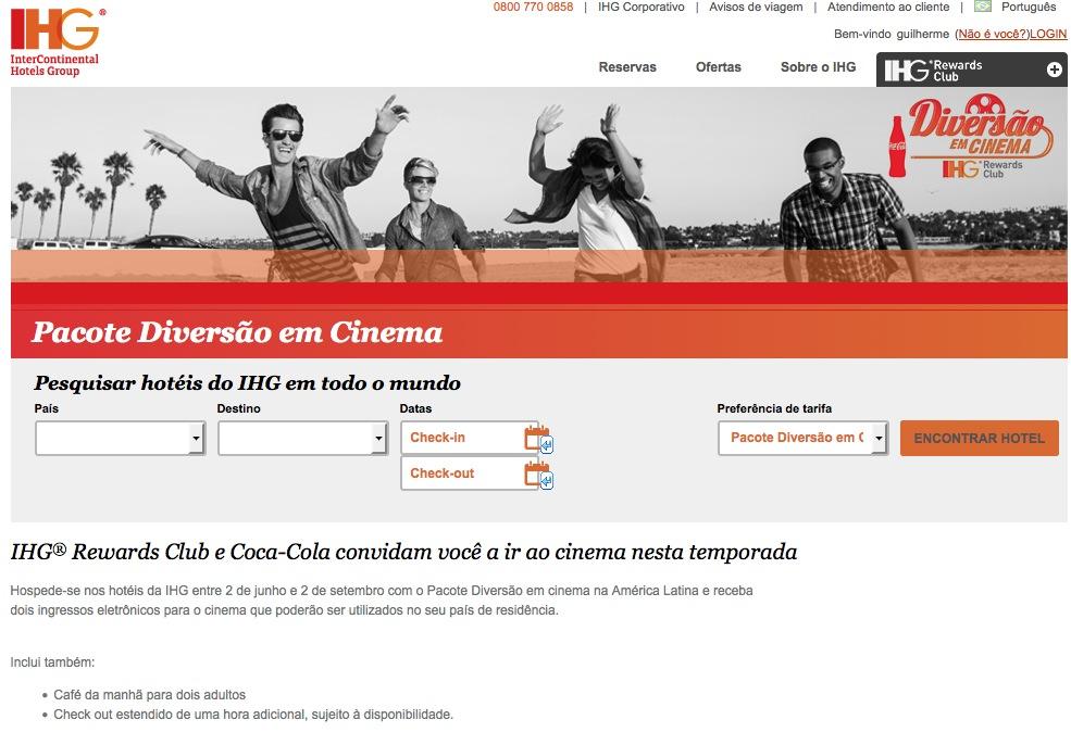 IHG Pacote Diversão Cinema
