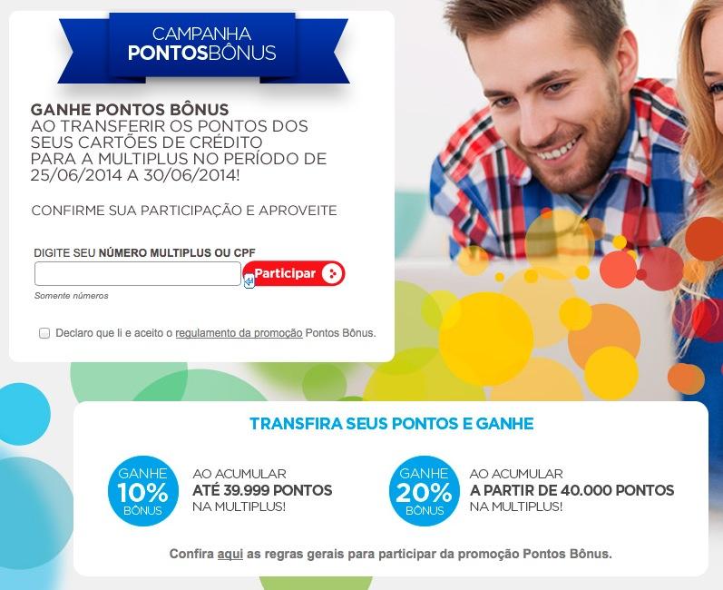 Multiplus Fidelidade lança nova promoção de bônus de 10% e 20%