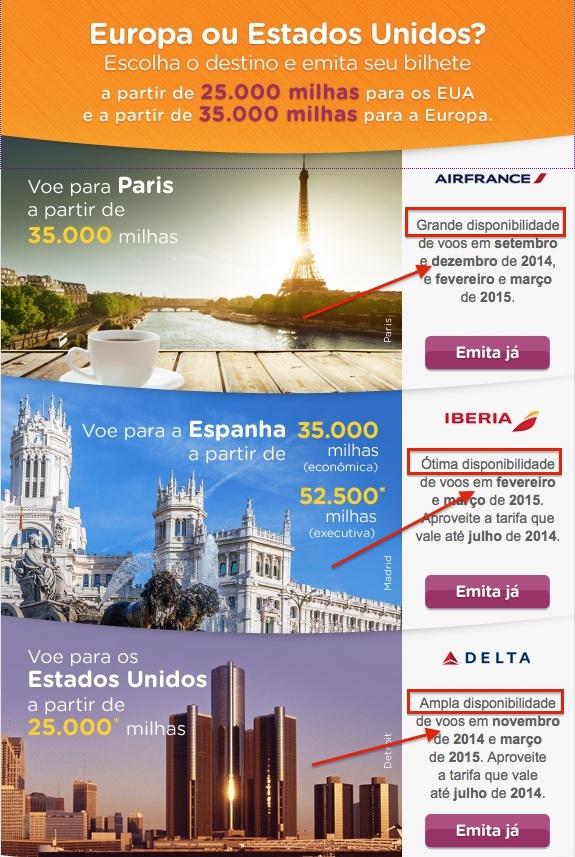 Promo Smiles Parceiras Air France Delta Iberia