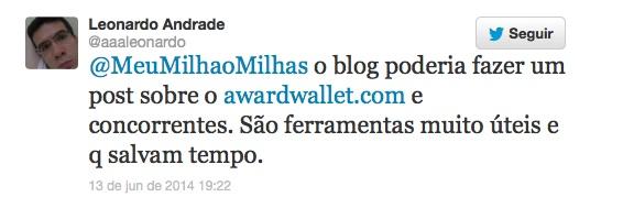 Tweet Leitor Leonardo
