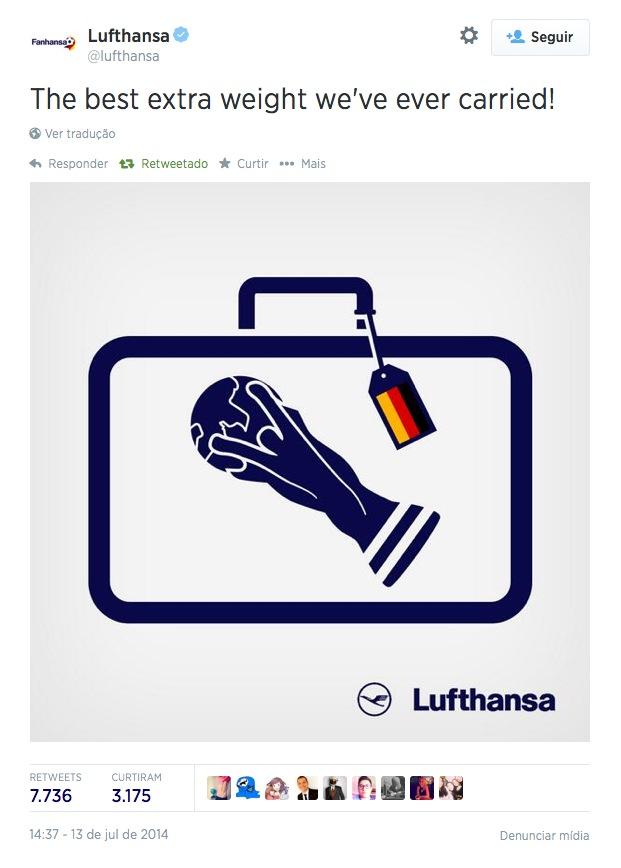 O melhor excesso de bagagem carregado pela Lufthansa