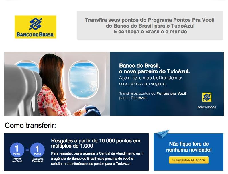 Banco do Brasil e Tudo Azul iniciam parceria… sem promoção de lançamento