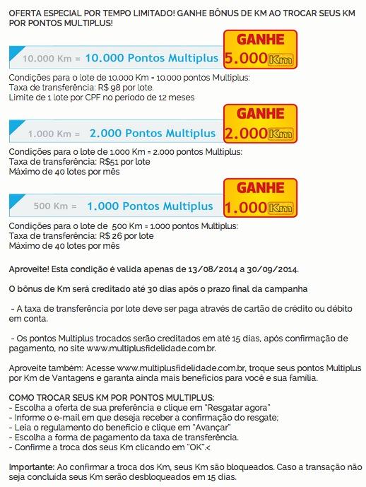 KM de Vantagens oferece bônus nas transferências para o Multiplus Fidelidade