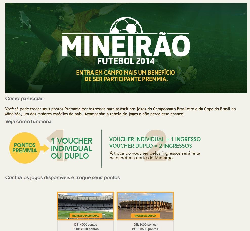 Pontos do Petrobras Premmia agora pode ser trocados por ingressos de jogos de futebol do Cruzeiro no Mineirão