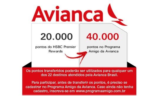 HSBC Rewards oferece pontos em dobro nas transferências para o Avianca Amigo