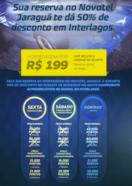 Accor oferece descontos em diária de hotel, e em ingressos (com pontos Le Club) para o GP Interlagos de Fórmula 1