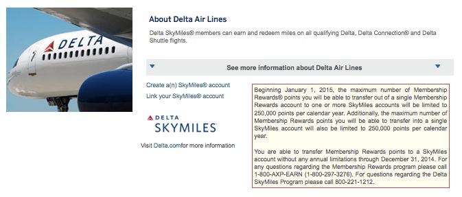 Começou! Delta limitará a 250k a quantidade de pontos transferidos dos cartões Amex (Membership Rewards) por ano