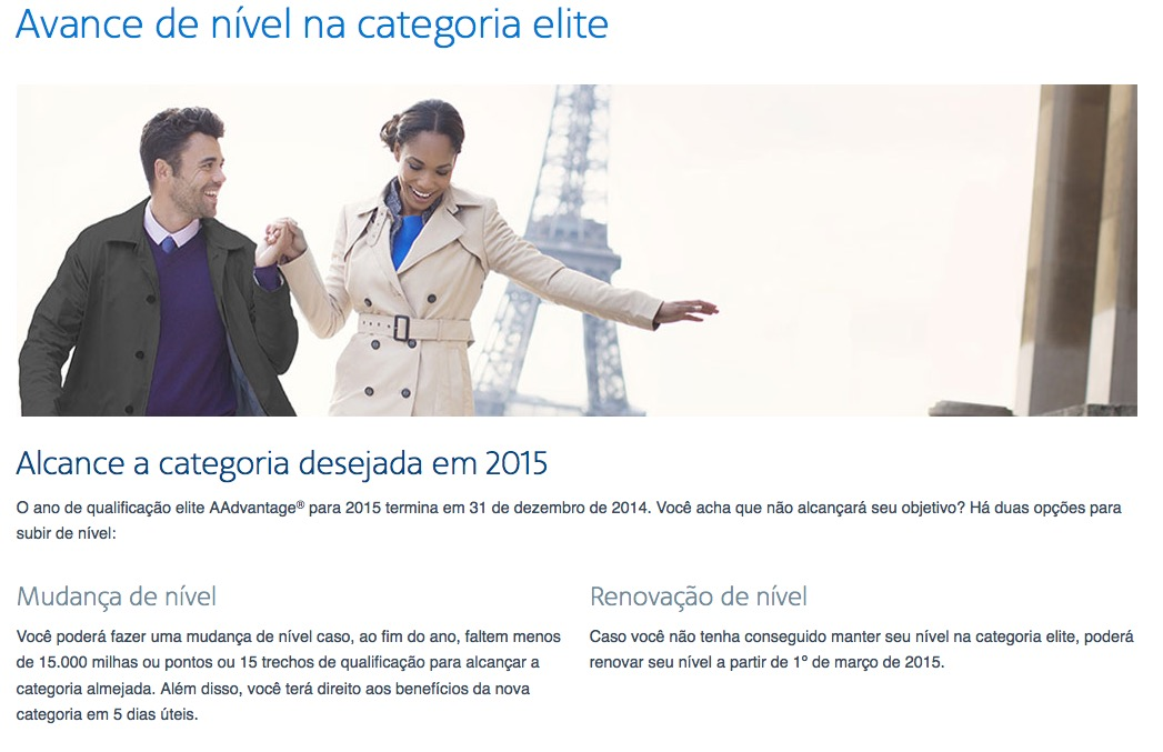 AAdvantage anuncia as regras que permitem a manutenção ou renovação de status mediante pagamento em dinheiro