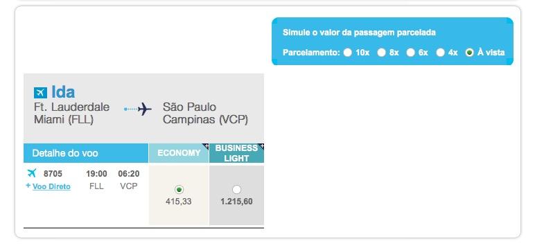 Azul vende passagens dos EUA para o Brasil em Classe Executiva por R$ 1.200 (é necessário comprar o trecho da ida separadamente)