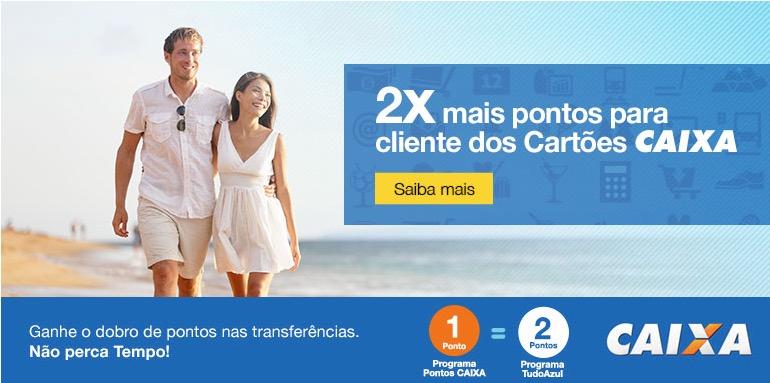 Tudo Azul prorroga promoção de pontos em dobro para cartões Caixa até 10.12.2014