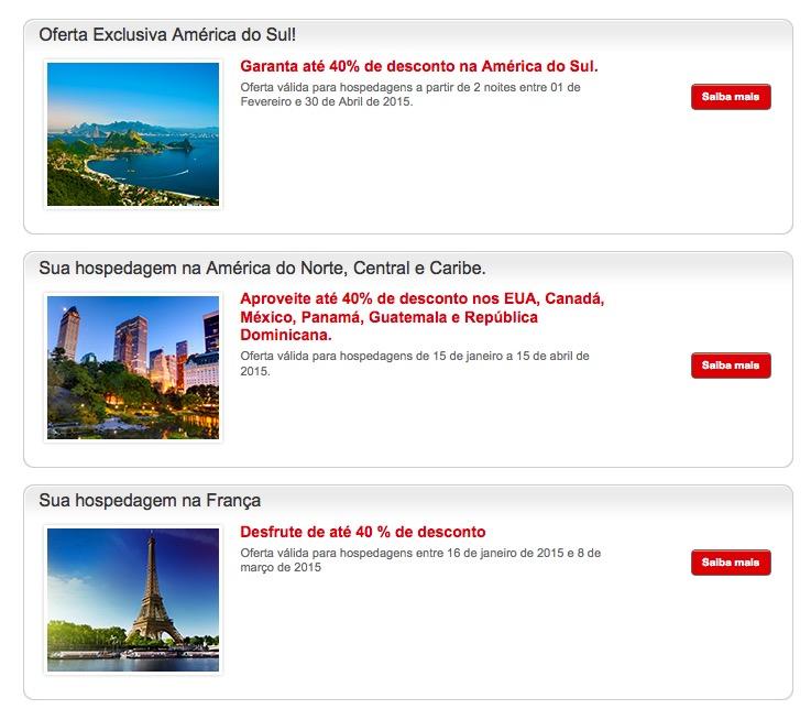 Promoção dos hotéis da rede Accor com descontos de até 40% sobre a tarifa flexível
