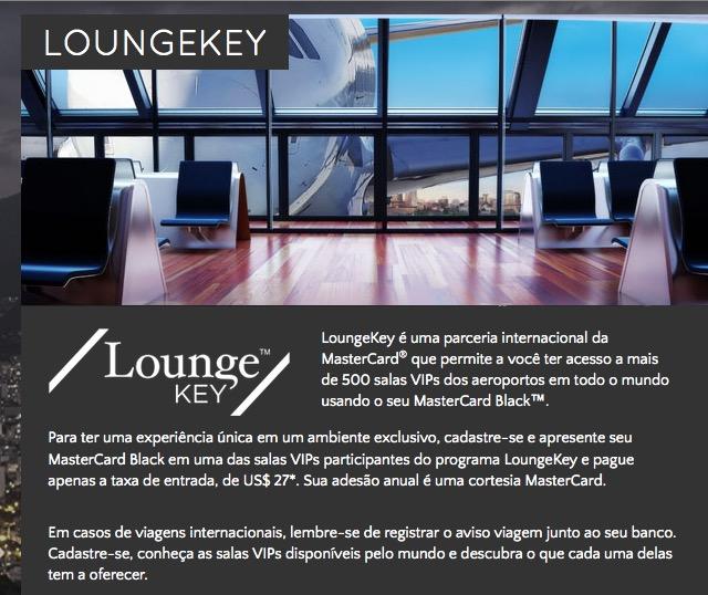Mastercard Black oferece acesso a mais de 500 salas VIP através do serviço LoungeKey