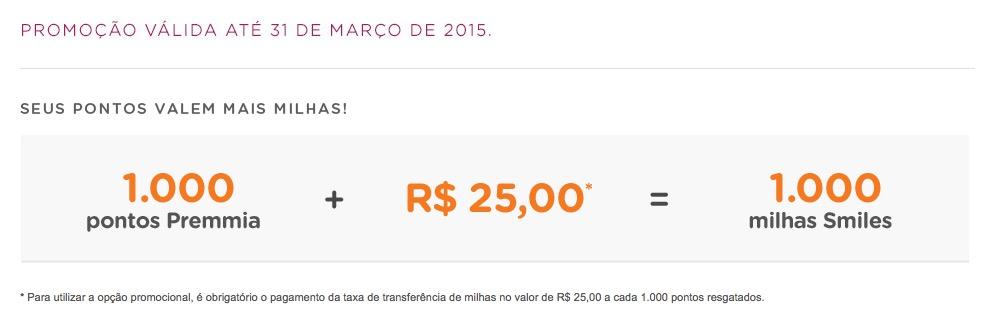Smiles agora permite trocar 1.000 pontos Petrobras Premmia por 1.000 milhas Smiles pagando-se uma taxa de R$ 25