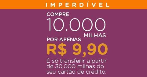Smiles permite a compra de 10.000 milhas por R$ 9,90, *desde que* você transfira 30.000 milhas ou mais