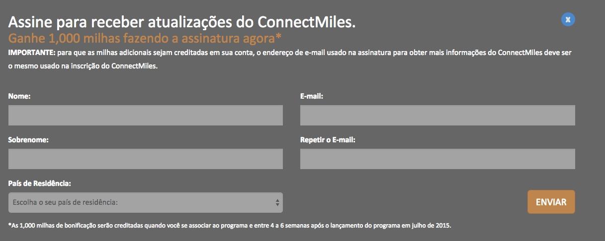 ConnectMiles mil milhas
