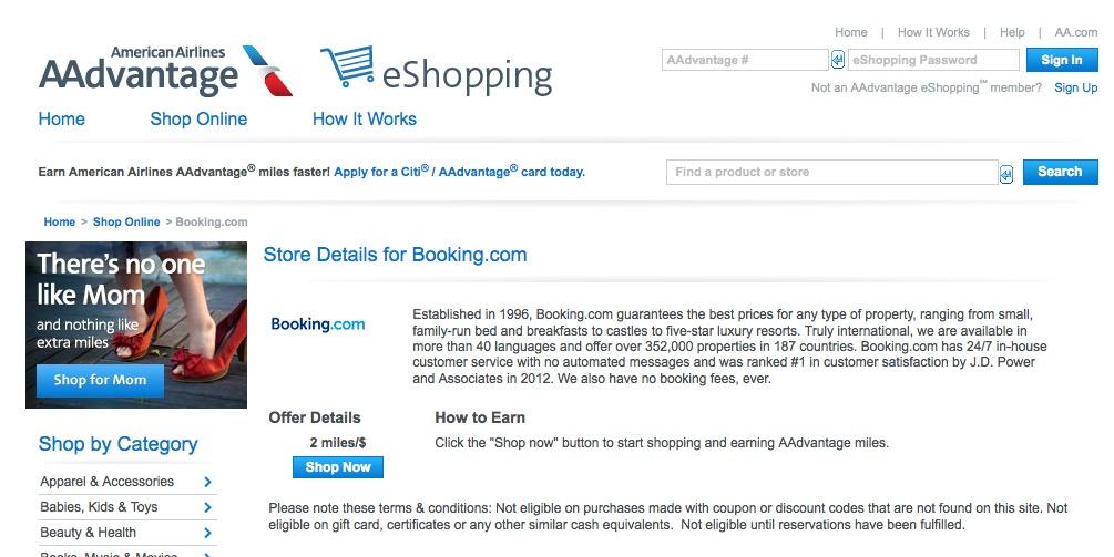 Maximizando o acúmulo de milhas em gastos com diárias de hotéis: ganhe 2 milhas AAdvantage para cada USD 1 em reservas no Booking.com