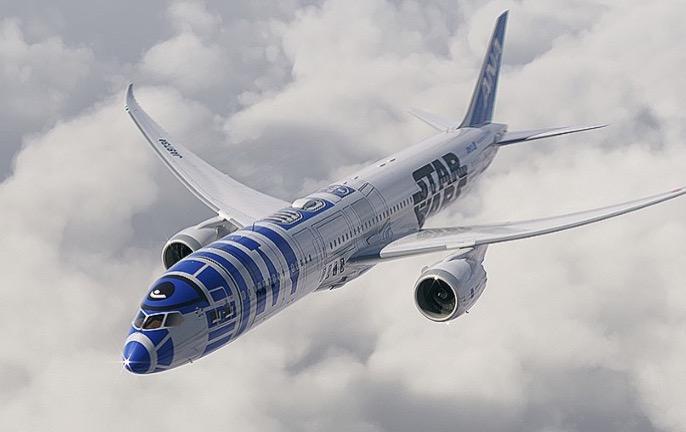 All Nippon Airways homenageia Star Wars e terá avião com pintura R2D2!