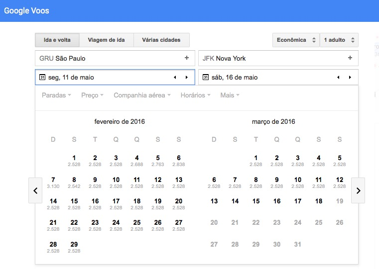 Google Voos: ótima ferramenta para pesquisar preços de passagens aéreas
