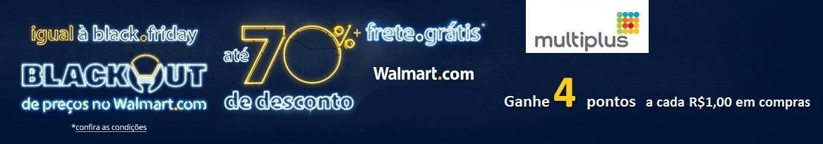 Ganhe 4 pontos Multiplus a cada R$ 1 na Walmart
