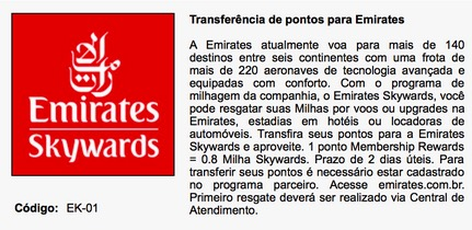 Emirates retoma parceria com a American Express no Brasil