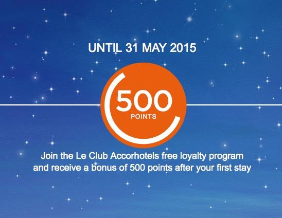 Ganhe 500 pontos (10 euros) ao se inscrever no Le Club e após a primeira estadia