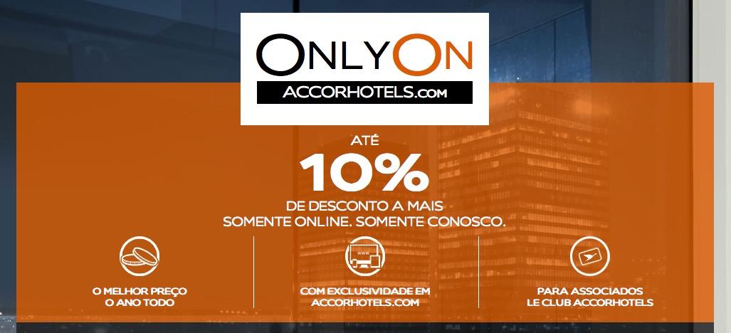 Accor oferece até 10% a mais de desconto para associados Le Club nas reservas feitas online, para cidades selecionadas