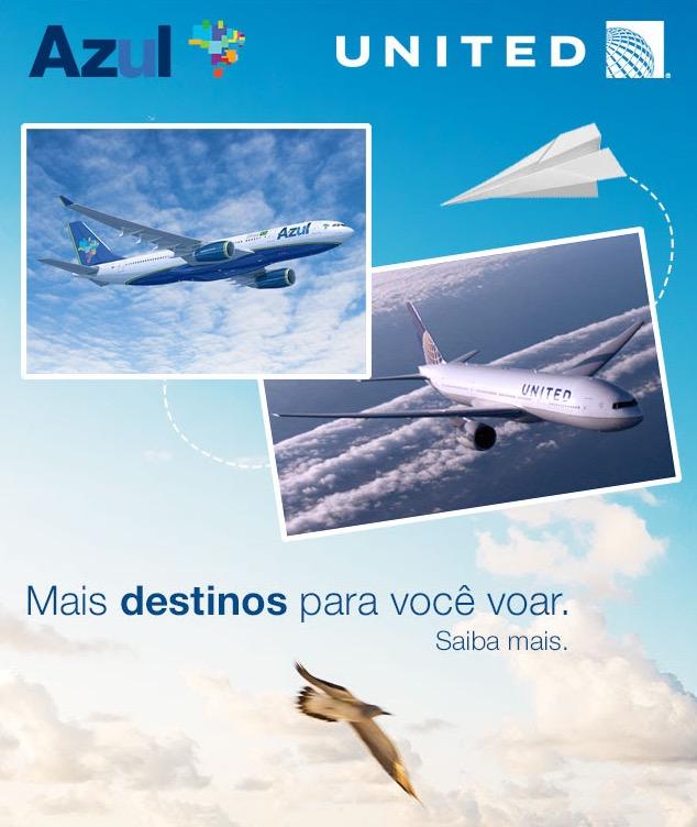 Tudo Azul vai se integrar ao Mileage Plus, da United Airlines. Será que agora vai?