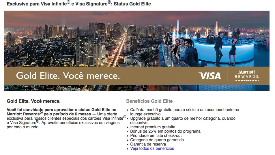 Marriott Gold Visa Infinite