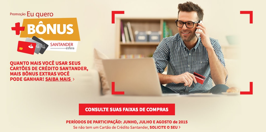 Santander lança nova promoção de bônus extras no Super Bônus: valor pode chegar a 5,4 pontos por dólar nos cartões Mastercard