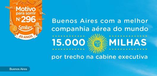 Smiles volta a oferecer Classe Executiva na Qatar para Buenos Aires por 15 mil milhas cada perna
