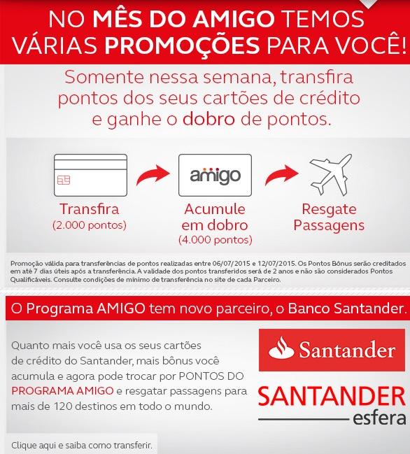 Amigo Avianca oficializa Santander como novo parceiro de cartão de crédito; pontos em dobro nessa semana