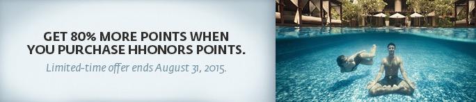 Tá sobrando dinheiro no final do seu mês!? Hilton Honors oferece bônus de 80% na compra de pontos