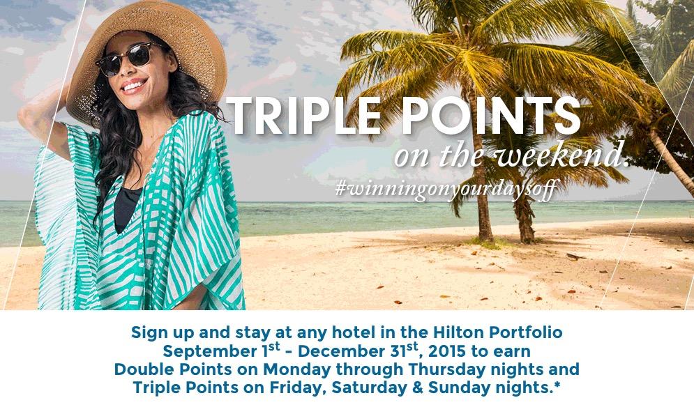 Hilton Honors lança promoção oferecendo o dobro e o triplo de pontos