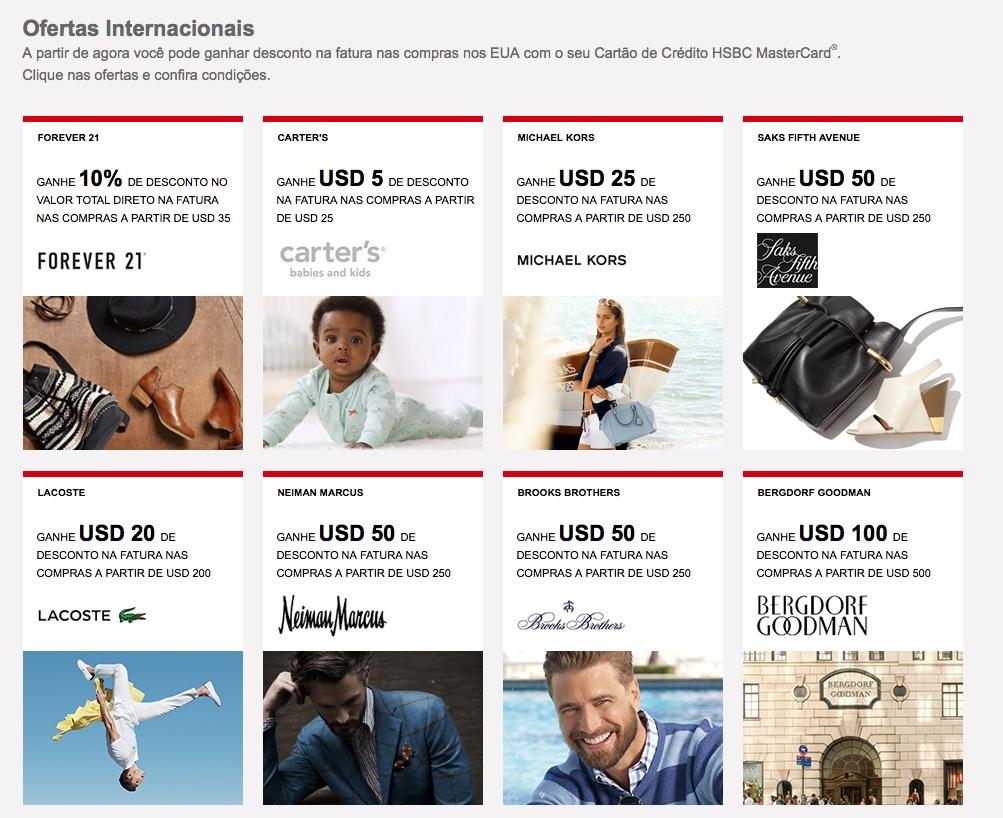 Clientes dos cartões HSBC Premier ganham descontos em compras nos EUA, creditados diretamente na fatura
