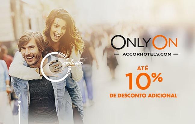 """Boa notícia: Accor torna os """"até 10% de desconto da campanha Only On"""" válidos para a maior parte dos hotéis da rede"""