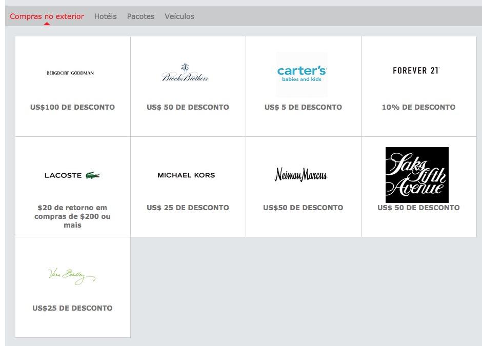 Santander Descontos Compras Exterior