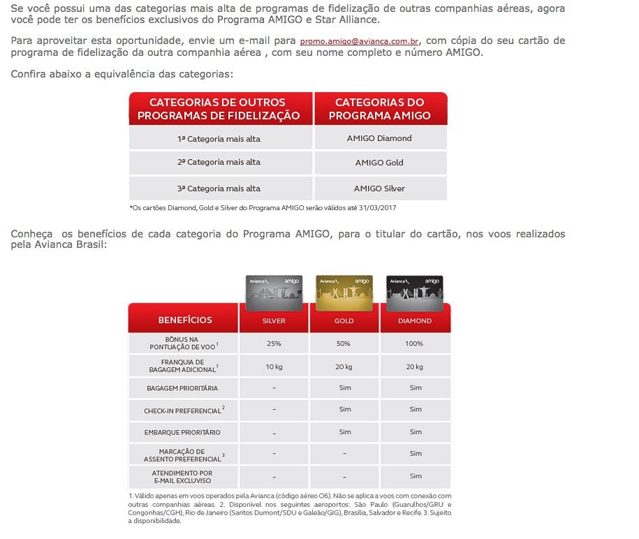 Amigo Avianca promove status match para clientes elite de outros programas de fidelidade