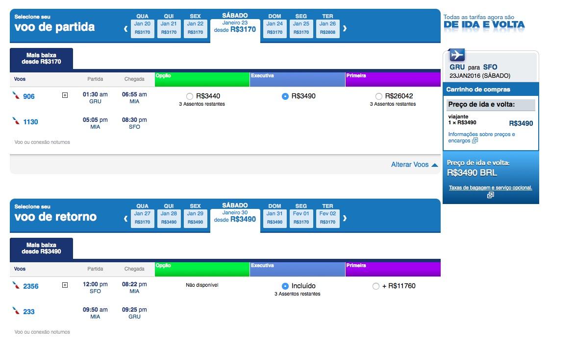 ALERTA DE TARIFAS! American Airlines tem passagens em classe executiva para São Francisco por R$ 3,5k