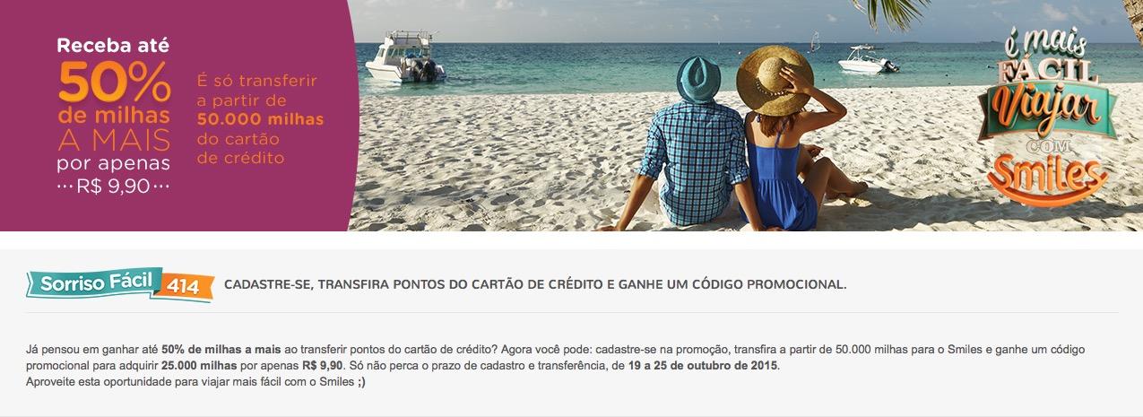 Smiles oferece compra de 25 mil milhas por R$ 9,90 para quem transferir a partir de 50 mil pontos de cartão de crédito