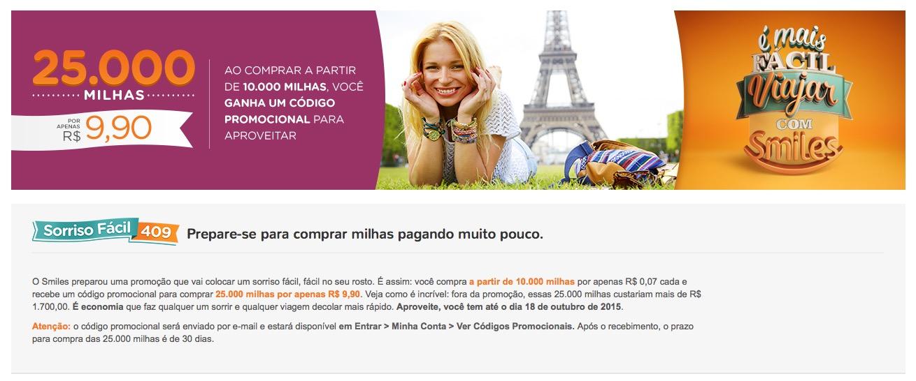 Smiles lança nova promoção de compra de milhas: blocos de 10k milhas por R$ 202,82, até o limite de 35.000 milhas