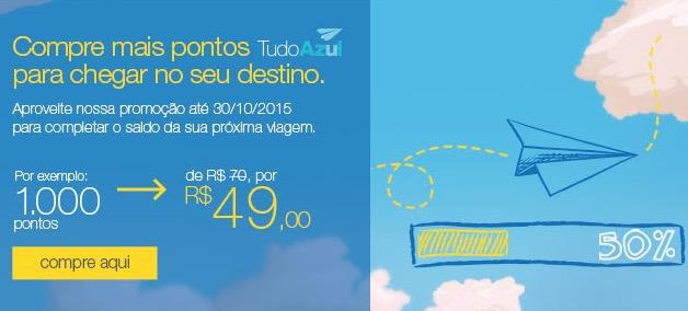 Tudo Azul oferece desconto na compra de pontos: cada bloco de 10 mil pontos por R$ 490, em vez de R$ 700