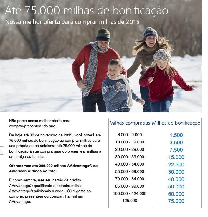 """AAdvantage lança sua """"melhor"""" (em USD) promoção de compra de milhas. 200k milhas por USD 3.994,06 + IOF. R$ 16.995,52."""