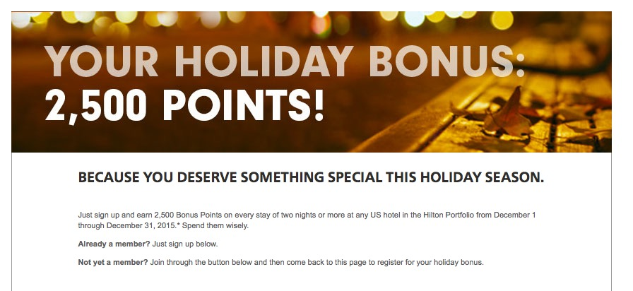 HH 2,500 Bonus Points