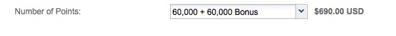 IHG Rewards oferece 100% de bônus na compra de pontos. 120.000 pontos por USD 690. E olha que isso pode ser vantajoso…