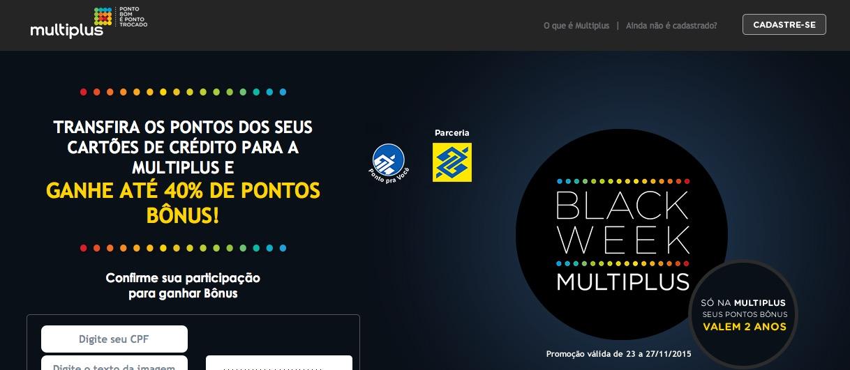 Até que enfim, né, Multiplus? Bônus de 40% nas transferências de pontos do Banco do Brasil. E Smiles oferece 50% de bônus nas transferências de *qualquer* cartão de crédito