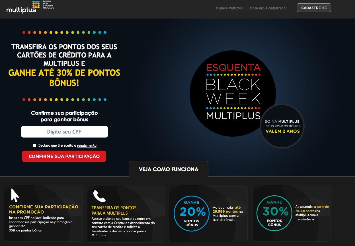 Multiplus oferece bônus de 20% e 30% nas transferências de pontos de cartões de crédito