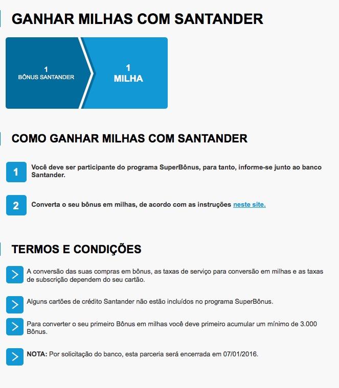 Não há nada ruim que não possa piorar: Santander deixará de enviar pontos para o Victoria TAP a partir de 07.01.2016