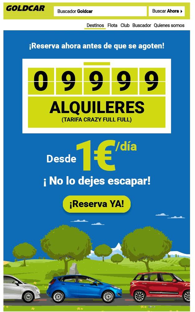 Urgente! Goldcar faz promoção de diária de veículos na Europa a partir de um euro por dia!