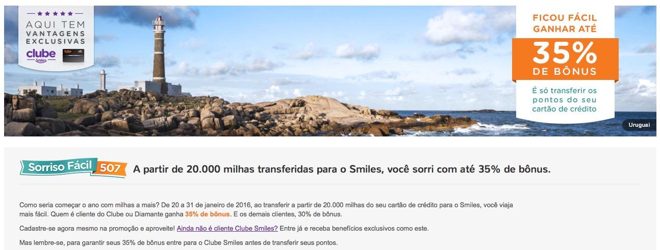 Smiles oferece bônus de 30% e 35% nas transferências de pontos de cartões de crédito
